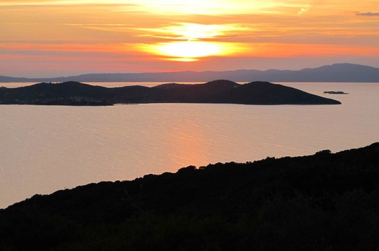 Aristoteles Holiday Resort & Spa: View from the trail above the hotel