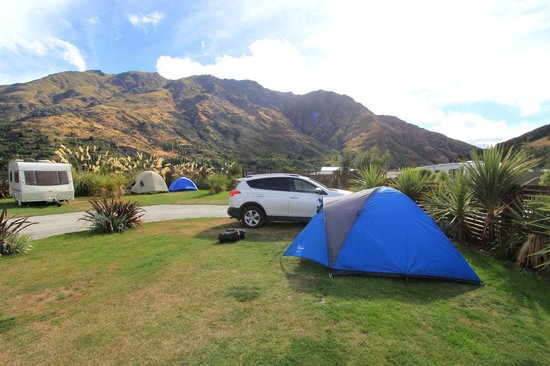 Queenstown TOP 10 Holiday Park: Our campsite for all 3 nights