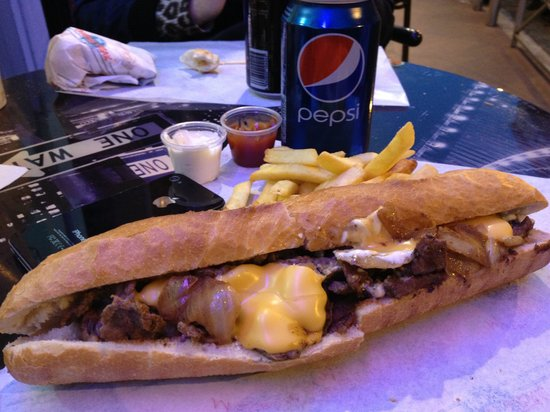 The Cheese Steak House : Best Sandwich ever - in US & Europe