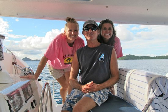 Singing Dog Sailing Day Tours : Captains Kelly & Stephen with the Birthday Girl