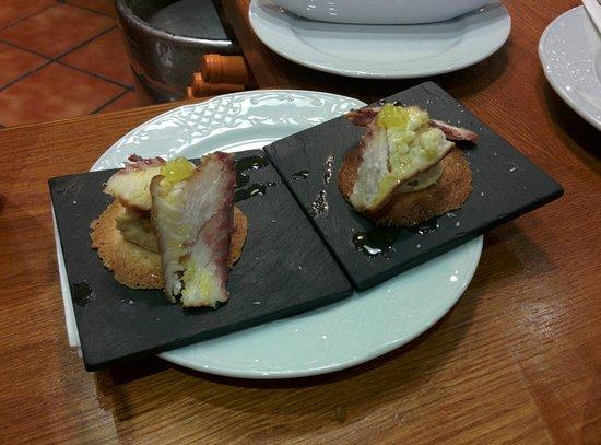 Kasler: Tapa de humus con esturión, todo un descubrimiento!