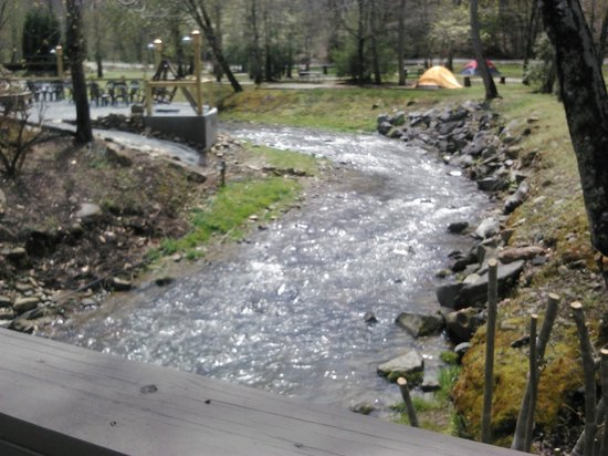 Iron Horse Motorcycle Lodge : The brook that divides the property