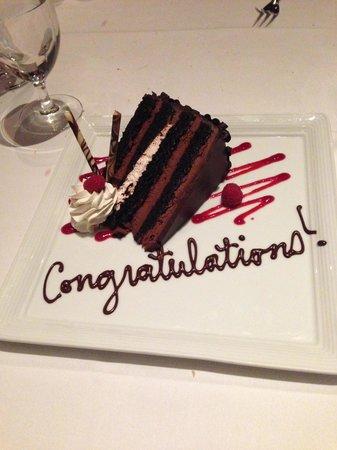 Rao's: Congratulations cake