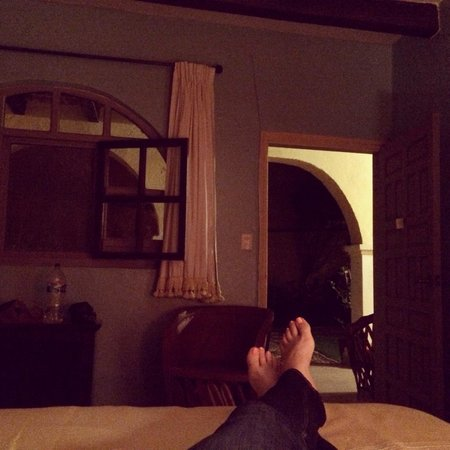 Casa de la Noche: Relaxing in our room