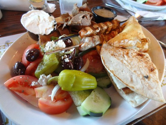Maxim's At Oconomowoc Depot: Greek Combination Plate
