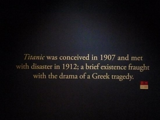 Titanic: The Artifact Exhibition: Entry