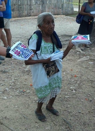 Sandos Cancun Lifestyle Resort: Native Mayan: Francisca @Chichen Itza