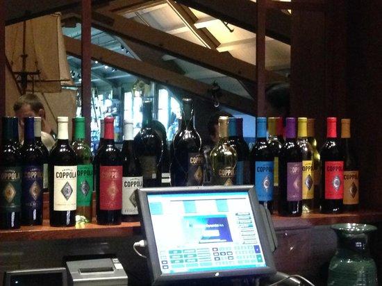 Francis Ford Coppola Winery: upstairs bar