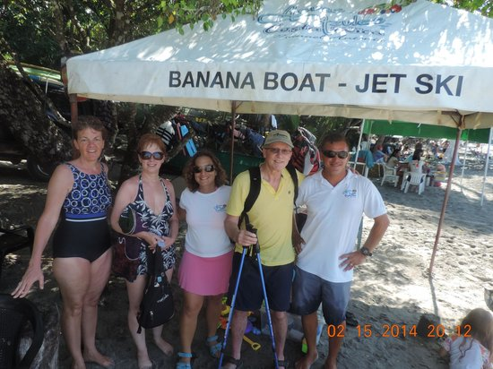 Aguas Azules Parasailing & Watersports Tours: Our photo with Miguel and Melanie