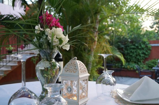 Casa Tía Micha: We can serve you typical & romantic dinner in the wonderful garden