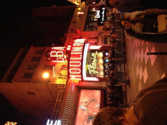 Outside Moulin Rouge