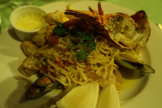 Vila Chaumieres Restaurant: Seafood Pasta