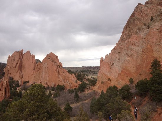 Garden of the Gods : view of the formations