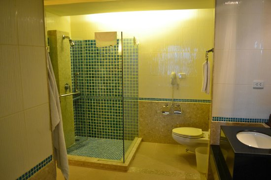 Patong Paragon Resort & Spa : Shower and toilet