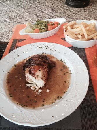 The Port of Call: Cord Fed Chicken stuffed with Mushrooms