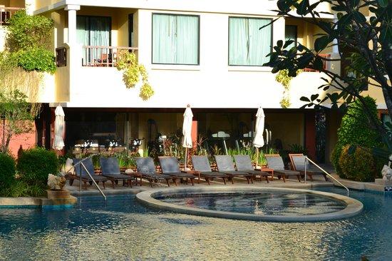 Patong Paragon Resort & Spa: Sun beds and gym & sauna