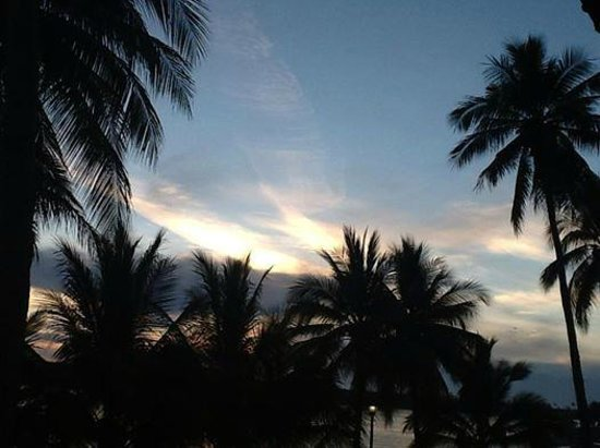 Marina San Blas: La vista desde el balcón de nuestra habitación