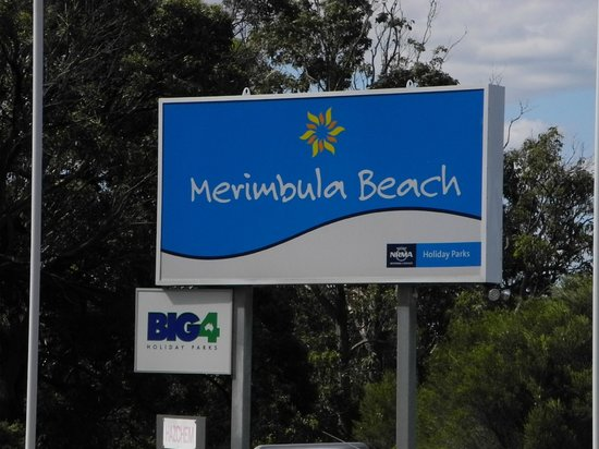 NRMA  Merimbula Beach Holiday Park : sign at entry