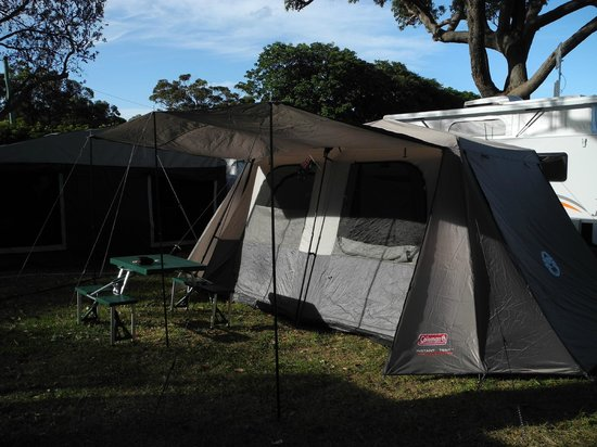 NRMA  Merimbula Beach Holiday Park: sites large enough to accomodate large tents