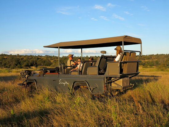Singita Lebombo Lodge: the land rover