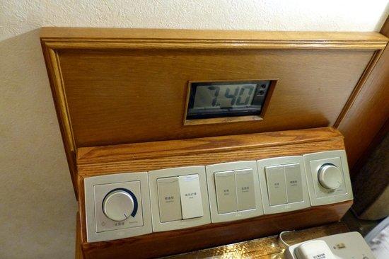 Hotel Sintra : light control panel