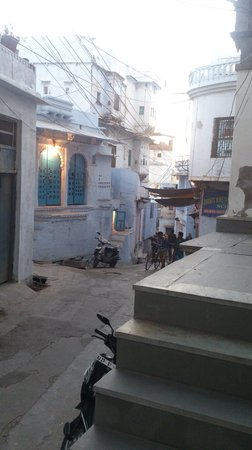 Madri Haveli: View from front stairs