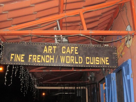 Boquete Art Cafe: Art Cafe sign outside the restaurant