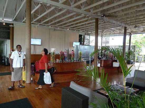 Hilton Fiji Beach Resort & Spa : Reception at the Hilton is a bit basic