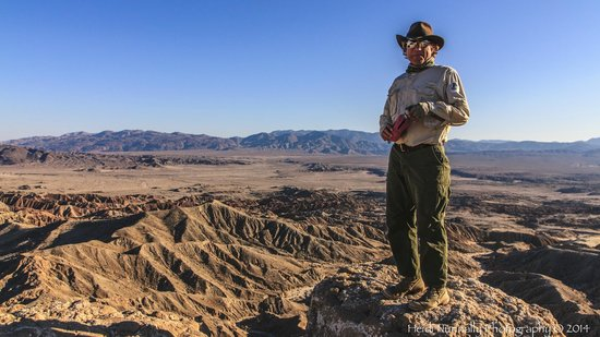 California Overland Desert Excursions: Joe at the Font's Point Overlook