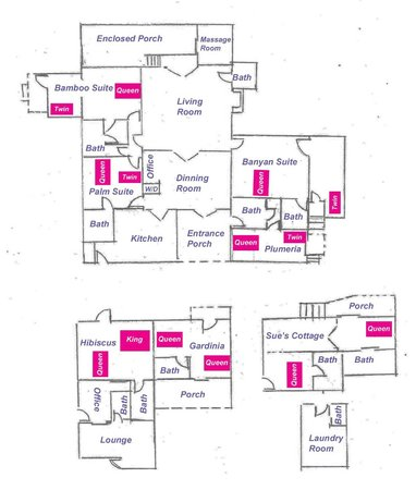 Banyan Bed and Breakfast Retreat: Site Plan