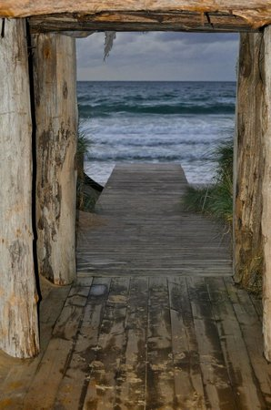 Barnbougle Lost Farm: Beach entry from The Lost Farm