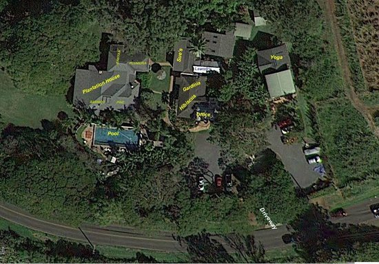 Banyan Bed and Breakfast Retreat: Aerial View