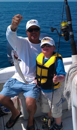 Saltwater Cowboy Charters: Jimbo and my son last year