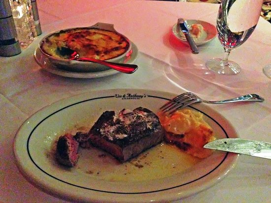 Vic & Anthony's Steakhouse: 8 oz Filet With a Side Order of Potato Au Gratin