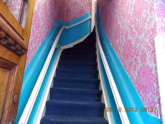 Hotel Mevlana: Escada íngreme, quase uma escalada.