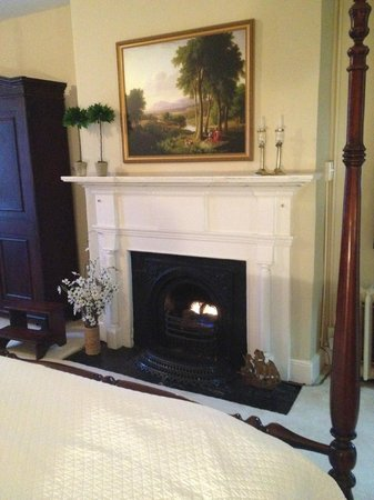 Holladay House Bed and Breakfast : FIre place in John Madison Suite