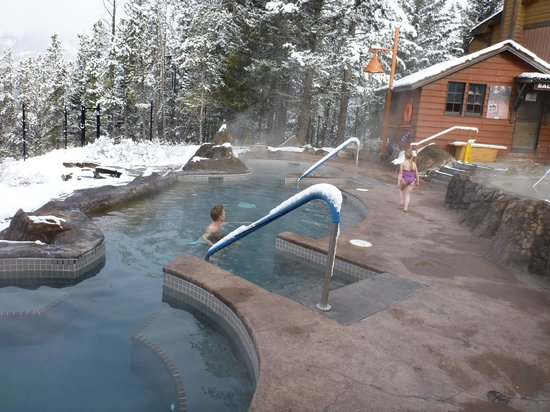Hidden Ridge Resort: Hot Pool to ourselves!