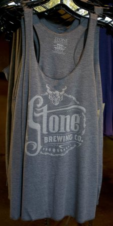 Stone Brewing World Bistro & Gardens: Great Shirts in the Brewery Shop