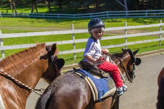 Carabali Rainforest Park : My grandson enjoying his ride!!!