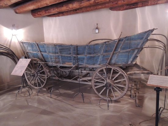 Bent's Old Fort National Historic Site : An original Conestoga Wagon at Bent's Old Fort