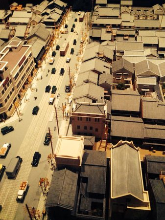Osaka Museum of Housing and Living: Well-crafted diorama inside this museum.