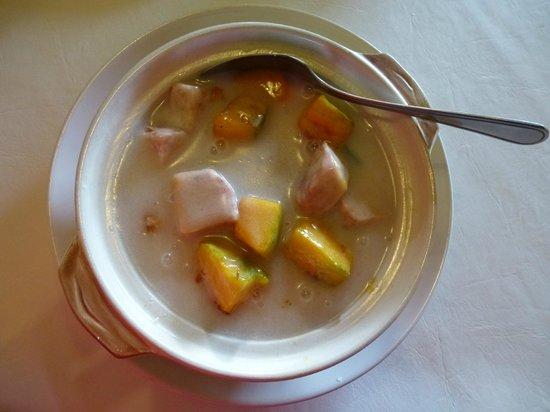 3G Vegetarian Restaurant: Taro and Pumpkin in Coconut milk - weak taste