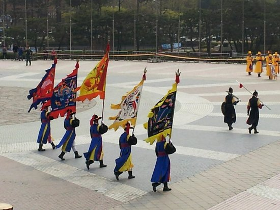 Monumento de Guerra de Corea: Procession