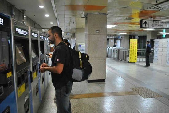 AREX (Airport Express Railroad): Getting tickets.
