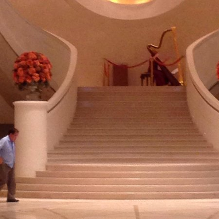 Harbour Grand Hong Kong: Harpist in the reception area