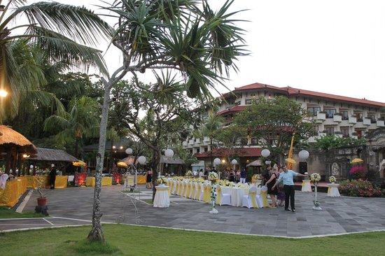 Grand Mirage Resort & Thalasso Spa - Bali : Rama Stage Area used for Wedding Reception
