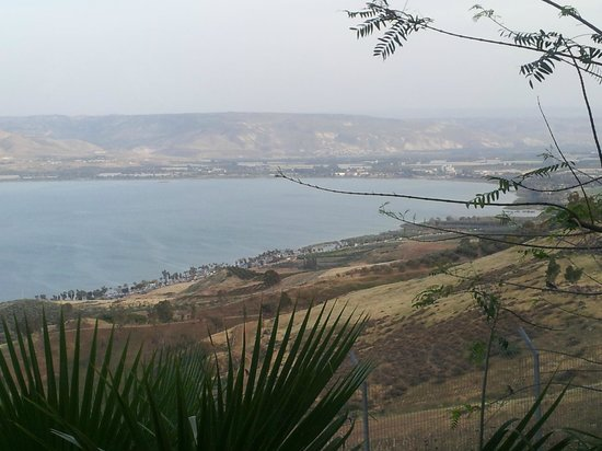 Poriya Hostel: View of the Sea of Galilee from the hotel
