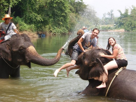 Tiger Temple Thailand Tour : getting soaked