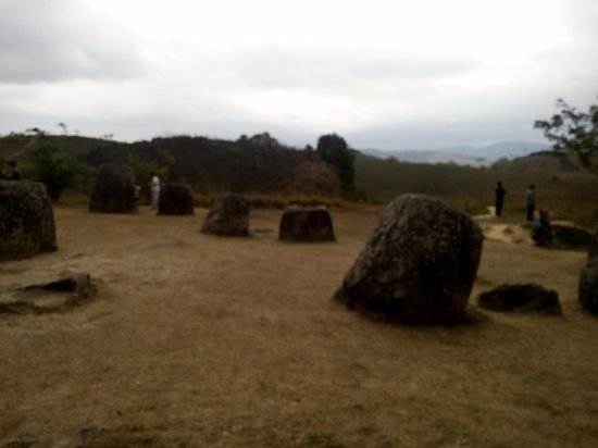 Phonsavan, Laos: View of the plain of jars