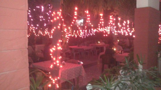 Tourists Rest House: garden at night .... magnificent